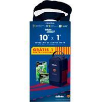 Kit Gillette Mach3 Sensitive Aparelho + 2 Refis Grátis Porta Chuteira