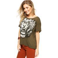 Blusa Colcci Loose Tigre Verde