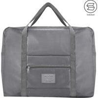 Bolsa De Viagem Dobrã¡Vel- Cinza- 20X45X36,5Cm- Jjacki Design