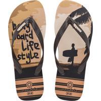 Chinelo Mandala Bodyboard Life Style Marrom