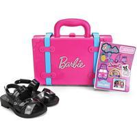 Sandália Infantil Grendene Kids Barbie Volta Ao Mundo - Feminino-Preto