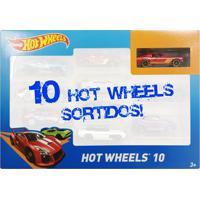 Carrinhos Hot Wheels - Pacote Com 10 Carros Sortidos - Pack H - 54886 - Mattel