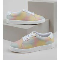 Tênis Feminino Oneself Estampado Tie Dye Multicor