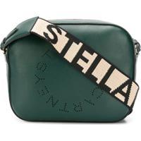Stella Mccartney Bolsa Estruturada 'Stella' Com Logo Mini - Verde