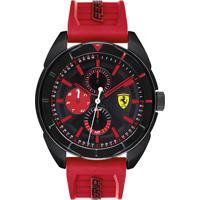 78f977ab022 Relógio Scuderia Ferrari Masculino Borracha Vermelha - 830576