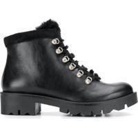 Tosca Blu Lace-Up Trek Boots - Preto