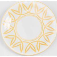 Prato Para Sobremesa Porcelana Schmidt - Dec. Helena Ocre