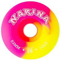 Roda Rajada Pink/Amarelo 53Mm