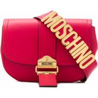 Moschino Pochete Com Placa De Logo - Rosa