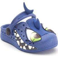 Babuche Infantil Plugt Tubarão - Masculino-Azul