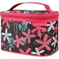 Necessaire Frasqueira Estampada Tam. P Jacki Design Miss Douce Pink Floral