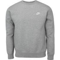 Blusão Nike Sportwear Club Crew Bb - Masculino - Cinza