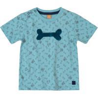 Camiseta Com Paetê Reversível Azul
