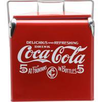 Cooler Aço Inox Coca-Cola Delicious Drink Vermelho 13 Litros
