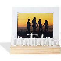 Porta Retrato 13X18 Grate Branco