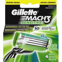 Carga Gillette Mach 3 Sensitive - 4 Unidades