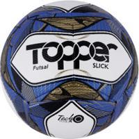 Bola De Futsal Topper Slick Ii 2019 - Branco/Azul