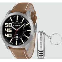 Kit Relógio Masculino Lince Mrc4332S Kb57P2Mb