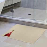 Tapete De Pano Para Banheiro Pinheiro Com Estrela Único