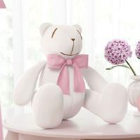 Urso Branco Laã§O Rosa 34Cm Grã£O De Gente Rosa - Rosa - Menina - Dafiti