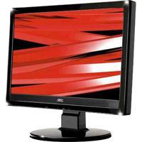 """Monitor Aoc 1619Swa Lcd 15.6"""" - Preto - Widescreen"""