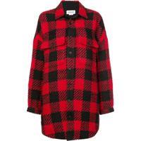 Monse Camisa Oversized Xadrez - Vermelho