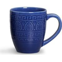Caneca Greek Cerâmica 330 Ml Azul Navy Porto Brasil