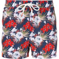 Sun 68 Floral-Print Swim Shorts - Azul