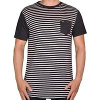 Camiseta Lock Hurley Masculino - Masculino-Preto