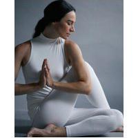 Amaro Feminino Yogini Legging Rib Vira Helena, Off-White