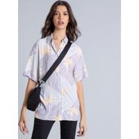 Camisa Manga Curta Ampla Estampa Downtown - Lez A Lez
