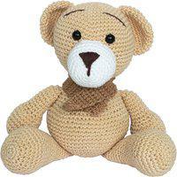 Ursinho Urso Amigurumi Crochet Menino Decoração Quarto Bebê Potinho De Mel