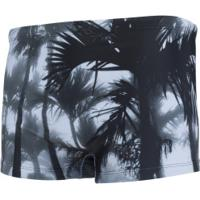Sunga Boxer Lupo Am Estampada - Adulto - Branco/Preto