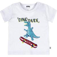 Camiseta Bebê Menino Manga Curta Com Estampa