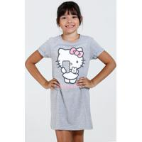 Camisola Infantil Manga Curta Strass Hello Kitty