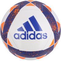 ... Bola De Futebol De Campo Adidas Starlancer V - Branco Azul Esc 0fd744a265dd5