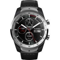 Relógio Ticwatch Smart Pro Masculino Ticwatch Pro Sxpx Caixa Em Fibra De Carbono Pulseira Couro E Silicone Preta