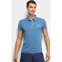 Camisa Polo Asics Gel Cool Performance Masculina - Masculino-Azul+Rosa
