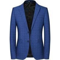 Blazer Masculino Xadrez Lansboter - Azul M