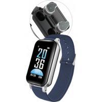Smartwatch Com Fone De Ouvido Sdbc T89 Bluetooth 5.0 Com Case - Azul
