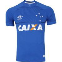 Camisa Do Cruzeiro I 2018 Umbro Com Patrocínio - Masculina - Azul