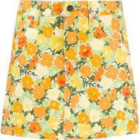 Simon Miller Saia Curta Com Estampa Floral - Amarelo