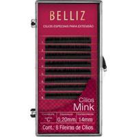 Cílios Para Alongamento Belliz - Mink C 020 14Mm 1 Un - Feminino-Incolor