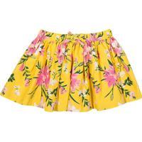 Saia Evasê Floral- Amarela & Rosatip Top