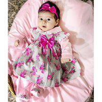 Saída De Maternidade Sônia Enxovais Menina Delicada Ayla Floral Rosa