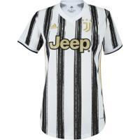 Camisa Juventus I 20/21 Adidas - Feminina - Branco/Preto