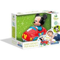 Clementoni Baby Mickey Brinca Comigo Carrinho Com Corda Para Puxar Indicado Para +10 Meses Colorido Multikids - Br818 Br818