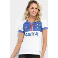 Camisa Cruzeiro Ii 2018 S/N° Blár Vikingur C/ Patrocínio - Torcedor Umbro Feminina - Feminino