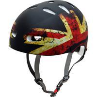 Capacete De Proteção Bicicleta Patins Skate Inglaterra - Kraft
