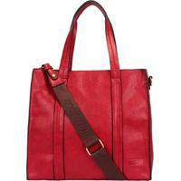 Bolsa Mormaii Shopping Bag Alongada Feminina - Feminino-Vermelho